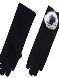 guantes de cachemir en otoño e invierno (negro)
