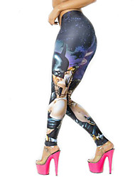 Damen Bedruckt Legging,Polyester Elasthan