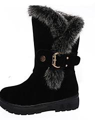 Women's Boots Fall / Winter Comfort Leather Outdoor / Casual Low Heel Buckle / Zipper  Walking