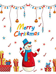 Wall Stickers Wall Decals Style Christmas Gifts Snowman New Year PVC Wall Stickers