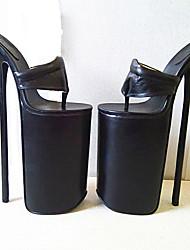 Homme-Soirée & Evénement-Noir-Talon Aiguille Plateforme-A Plateau-Chaussures à Talons-Polyuréthane