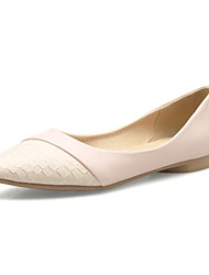 Women's Flats Spring / Summer / Fall Comfort Leatherette Wedding / Office & Career / Dress / White Others