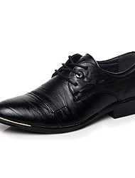 Men's Oxfords Comfort Leather Office & Career / Casual Low Heel / Lace-up Black / Brown Walking