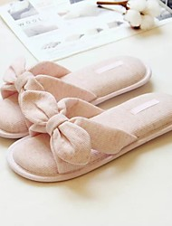 Women's Slippers & Flip-Flops Cotton Casual Gray Blushing Pink Flat