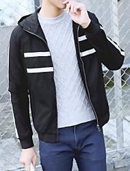 Slim new winter hooded jacket teen Port wind chest mesh jacket casual jacket