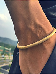 Herrn Damen Paar Armreife Manschetten-Armbänder Modisch Vintage Punkstil Einstellbar Hip-Hop Langlebig Titan KreisformSchwarz Silber