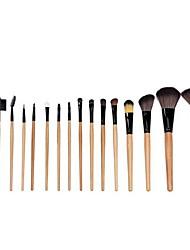 15 Makeup Brushes Set Horse Portable Wood Face NFSS