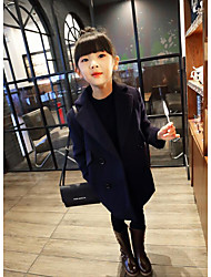 Girl's Casual/Daily Solid BlouseRayon Winter / Fall Black / Red