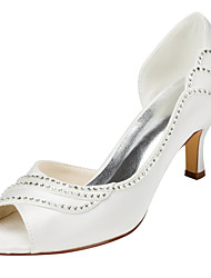 Women's Heels Spring / Summer Others Stretch Satin Wedding / Party & Evening Stiletto Heel Crystal Ivory Others