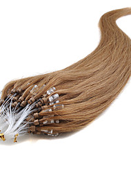 Fuller And Longer Loop Hair 16-24Inch/0.5g/s Micro Ring Hair Extensions 40g-50g/lot 100% Human Remy Natural Hair