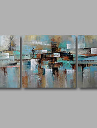Stretched (Ready to hang) Hand-Painted Oil Painting 120cmx60cm Canvas Wall Art Modern Blue Grey