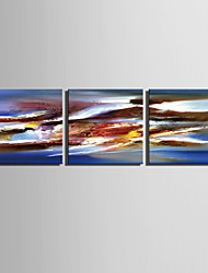 E-HOME® Stretched Canvas Art An Abstract View Decorative Painting Set of 3