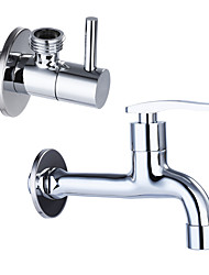 Contemporary Standard Spout Centerset Clawfoot with Brass Valve Single Handle One Hole for Chrome Kitchen faucet/ Angle valve JL-LP01/JL-JF02