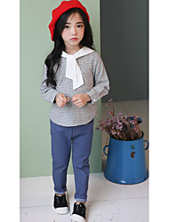 Girl's Casual/Daily Solid Jeans Fall Blue
