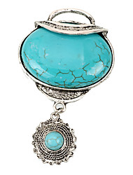 The Oval Turquoise Necklace Pendant