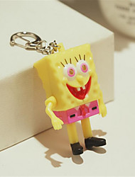 Cartoon Cute Sponge Baby Doll Pendant Creative Sparkling Sound Key Chain