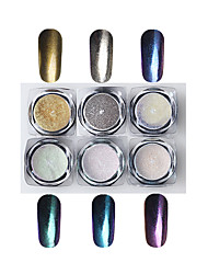 6 Manucure Dé oration strass Perles Maquillage cosmétique Nail Art Design