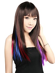 Neitsi 18'' Clip in on Highlight Synthetic Hair Extensions Colourful Streaks 5Pcs/pack Colour Choose
