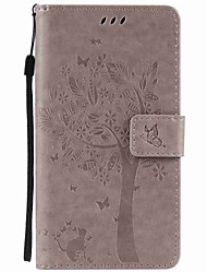 Tree and Cat Embossed PU Phone Case for Motorola G4 Play G4 G2 Z Z Force X Play X Style
