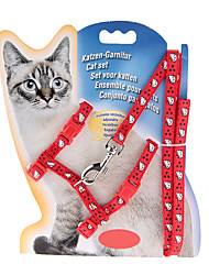 Chat Colliers Ajustable/Réglable Solide Rouge Nylon