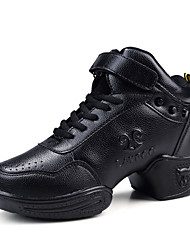 Non Customizable Women's Dance Shoes Synthetic Synthetic Dance Sneakers Sneakers Flat Heel Practice Black