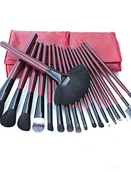 18 Makeup Brushes Set Goat Hair Professional / Portable Wood Handle Face/Eye/Lip