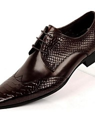 Men's Oxfords Comfort Leather Casual Black Brown