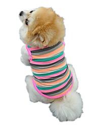 Katzen Hunde T-shirt Weste Hundekleidung Winter Sommer Frühling/Herbst StreifenNiedlich Geburtstag Urlaub Modisch Lässig/Alltäglich Sport