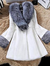 Spot silver fox fur collar Haining new winter imitation mink fur coat long section of female mink fur imitation