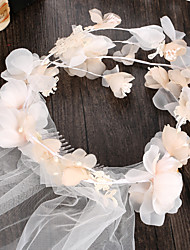 Women's Tulle / Fabric Headpiece-Wedding / Special Occasion / Casual / Outdoor Wreaths 1 Piece