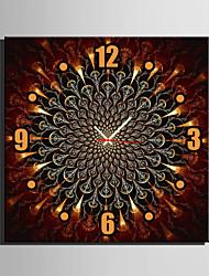 Carré Moderne/Contemporain Horloge murale , Autres Toile40 x 40cm(16inchx16inch)x1pcs/ 50 x 50cm(20inchx20inch)x1pcs/ 60 x