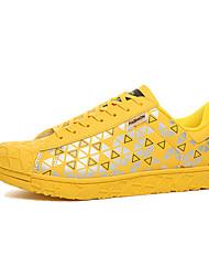 Masculino-Tênis-Conforto-Rasteiro-Preto / Amarelo / Vermelho / Branco / Preto e Branco / Azul Real-Couro Ecológico-Casual