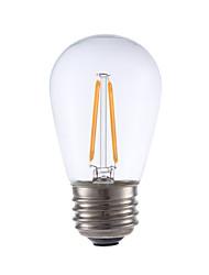 2W E26/E27 Ampoules à Filament LED S14 2 COB 200 lm Blanc Chaud Gradable V 1 pièce