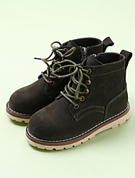 Boy's Boots Comfort Suede Casual Black Brown Green