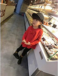 Girl's Casual/Daily Solid Sweater & CardiganCotton Spring / Fall Red