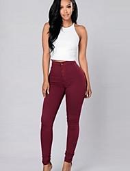 Damen Hose - Einfach Jeans Baumwolle / Kunstseide Dehnbar