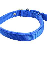 Chien Colliers Ajustable/Réglable Solide Rouge / Bleu Nylon