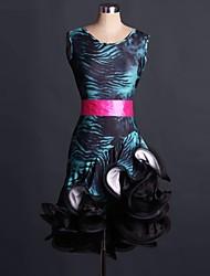 Costumes de Cosplay Plus de costumes Fête / Célébration Déguisement Halloween Bleu Lace Robe / Ceinture Halloween / Noël / Carnaval