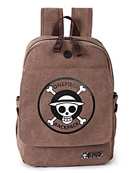 Unisex School Bag Canvas Casual Khaki