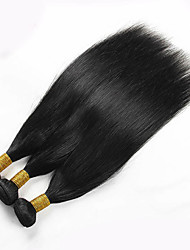 Cheap Price 3Pcs/Lot 8-26 Brazilian Virgin Straight Hair Natural Black Human Hair Weave Hot Sale.