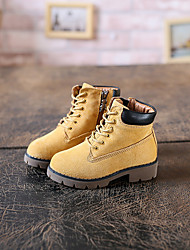 Boy's Boots Spring / Fall Others Other Animal Skin / Pigskin Outdoor / Casual Flat Heel Others / Lace-up Black / Yellow / Fuchsia Others