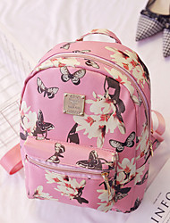 Women PU Casual Backpack White / Pink / Black