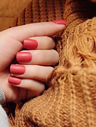 bandes de clous givrées bref paragraphe pâle 24pcs rouge élégant et sexy / set