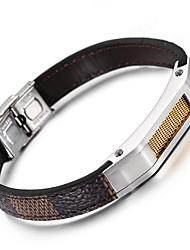 Italy Popular Leather Bracelet Kalen New Fashion 316 Stainless Steel Charm Bracelets Men's Fashion Accessory Gifts
