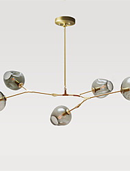 Northern Europe Vintage Chandelier 5 heads Glass Molecules Pendant Lights Bedroom Light Fixture
