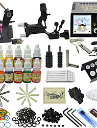 Ophir Professional Tattoo Kit with 2 Machine  2 Aluminum Tattoo Grip & 12x Ink #TA070