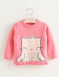 Girl's Casual/Daily Jacquard Sweater & Cardigan,Cotton Winter / Fall Pink / Gray