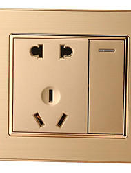 86 One Open Five-Hole Double-Three Plug 5-Pin Socket With