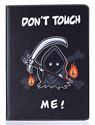 Grim Reaper Pattern Painted PU Leather Material Card Flat Shell for  ipad Air  Air 2