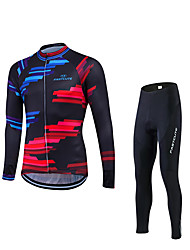 Sports Cycling Jacket with Pants Men's Winter Long Sleeve BikeThermal / Warm / Windproof / Fleece Lining / Anti-skidding/Non-Skid/Antiskid /